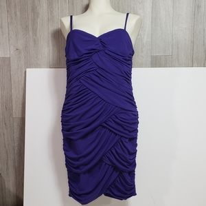 Deep Purple Ruffled Suzy Sheer Formal Dress